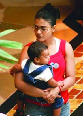 Kajol and her baby stillsTamil Actress-Actors Family Pics - Actress With her Child Images - Actress Family Photos - Actress Kids - Actress Babies Name
