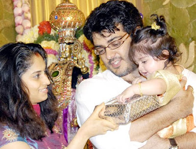 ajith shalini baby anoushka first birthday photo