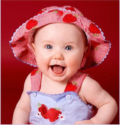 Beautiful girl baby smiling photo