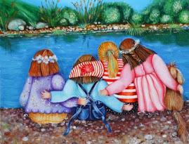 Cinco amigas Pintura de Chelo Sena