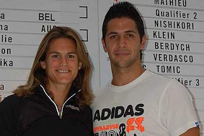 Amelie Mauresmo and Fernando Verdasco