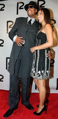 Paul Pierce and his fiancee Julie Landrum