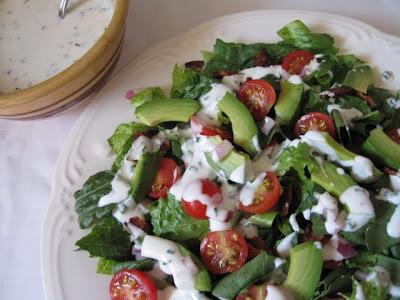 Lynda's Recipe Box: BLT and Avocado Salad with Homemade ...
