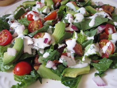 ... Recipe Box: BLT and Avocado Salad with Homemade Buttermilk Dressing