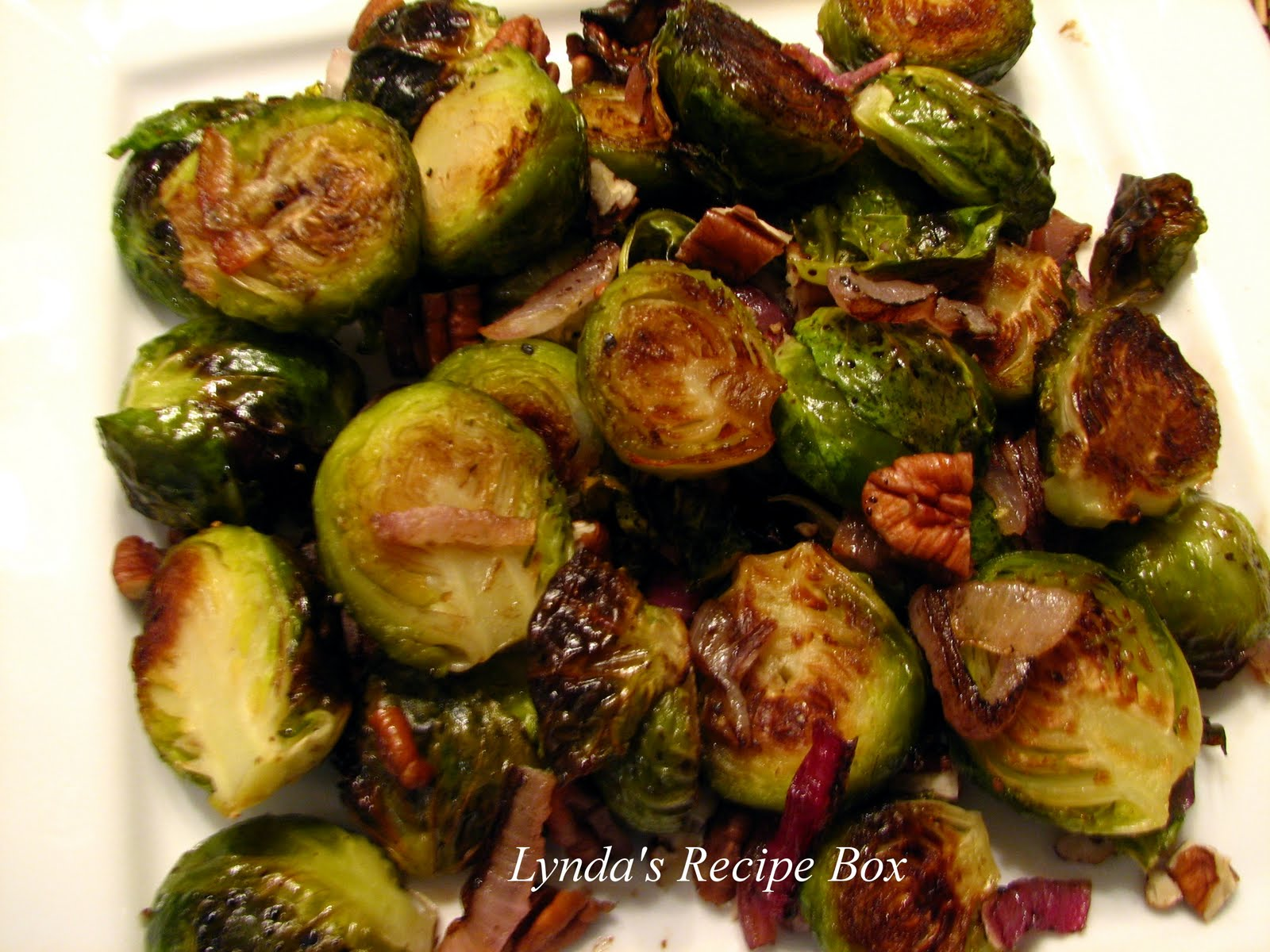 Lynda's Recipe Box: Roasted Brussels Sprouts with Balsamic Vinegar
