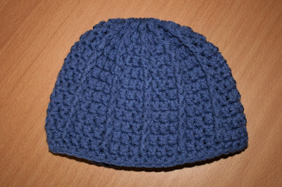 Free Crochet Pattern: Jiffy® Stocking Cap - Braille Input Version