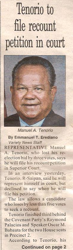 Rep. Manny Tenorio article 112707