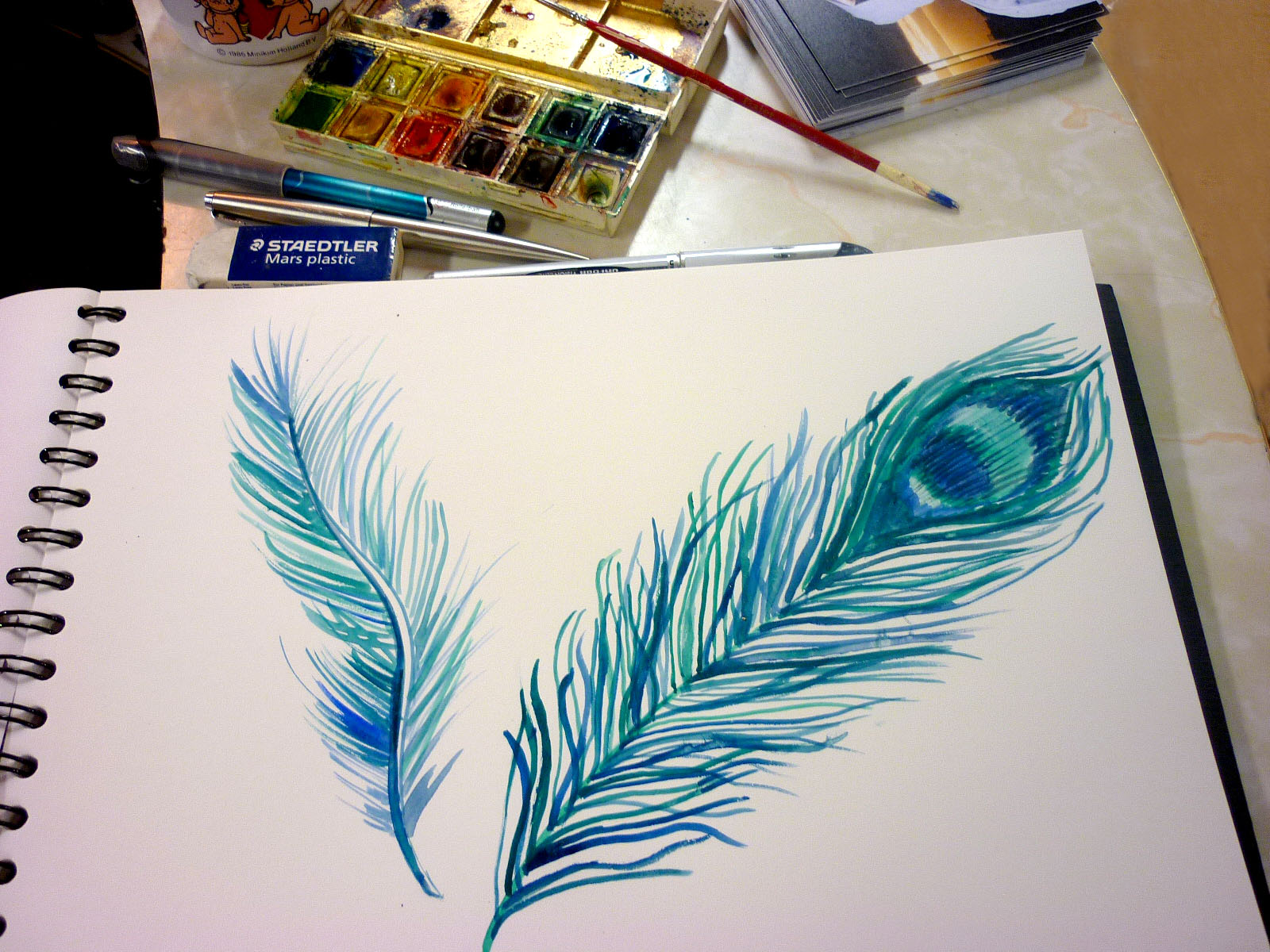 Pencil Sketches Peacock Peacock Feather Drawing Pencil