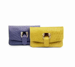 Mimosa yellow, blue and handbags