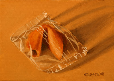 Fortune Cookie Oil Painting