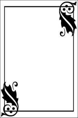 Setelah gambar bingkai kotak hitam dan ornamen selesai dibuat, berilah ...