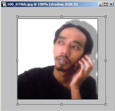 Membuat efek bayangan secara manual pada photoshop 3