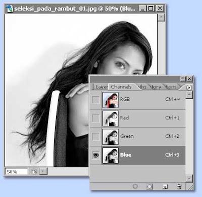 tutorial photoshop untuk membuat seleksi dengan channel dan layer mask, gambar 2