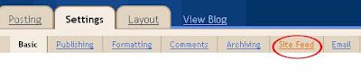 tutorial blogger feed 2