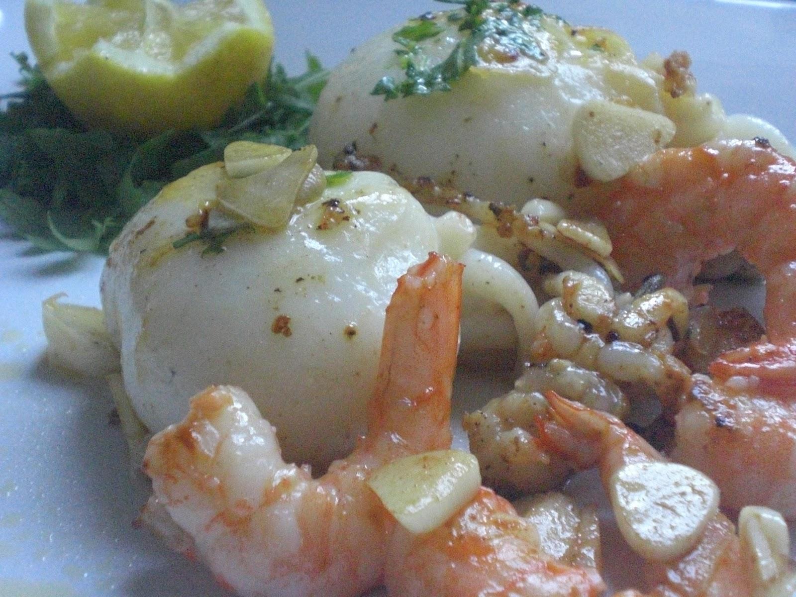 Sepia con gambas a la plancha fotograf a gastron mica y for Cuisine 0 la plancha