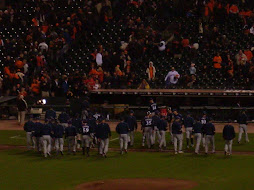 Brewers Celebrating after 3-0 win in SF