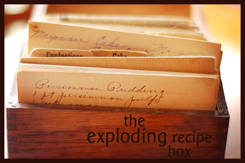 the exploding recipe box
