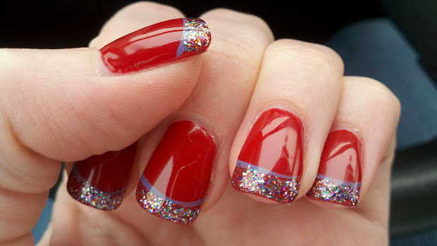 funkydiva lovely chrismas nails