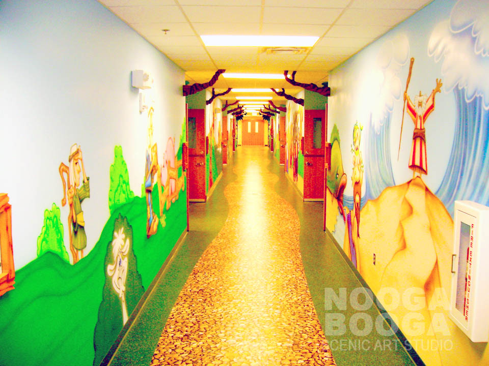 1000 images about kid church on pinterest paint by for Church mural ideas