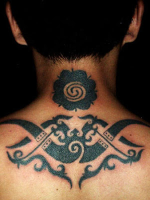 Tribal Tattoo Design of Borneo Inspired by Iban
