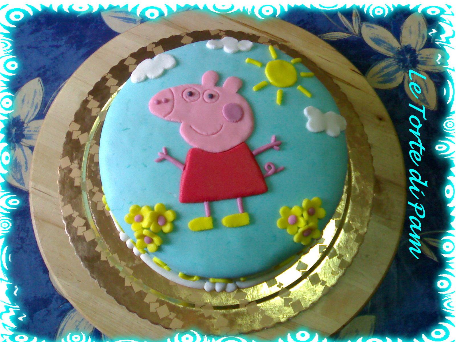 Детский торт своими руками. Торт со свинкой Пеппой 92