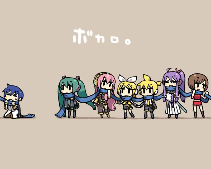 Vocaloid Chibi Group Wallpaper vocaloid: vocaloid ima...