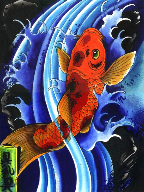 Pers fone carpa for Orange koi fish meaning
