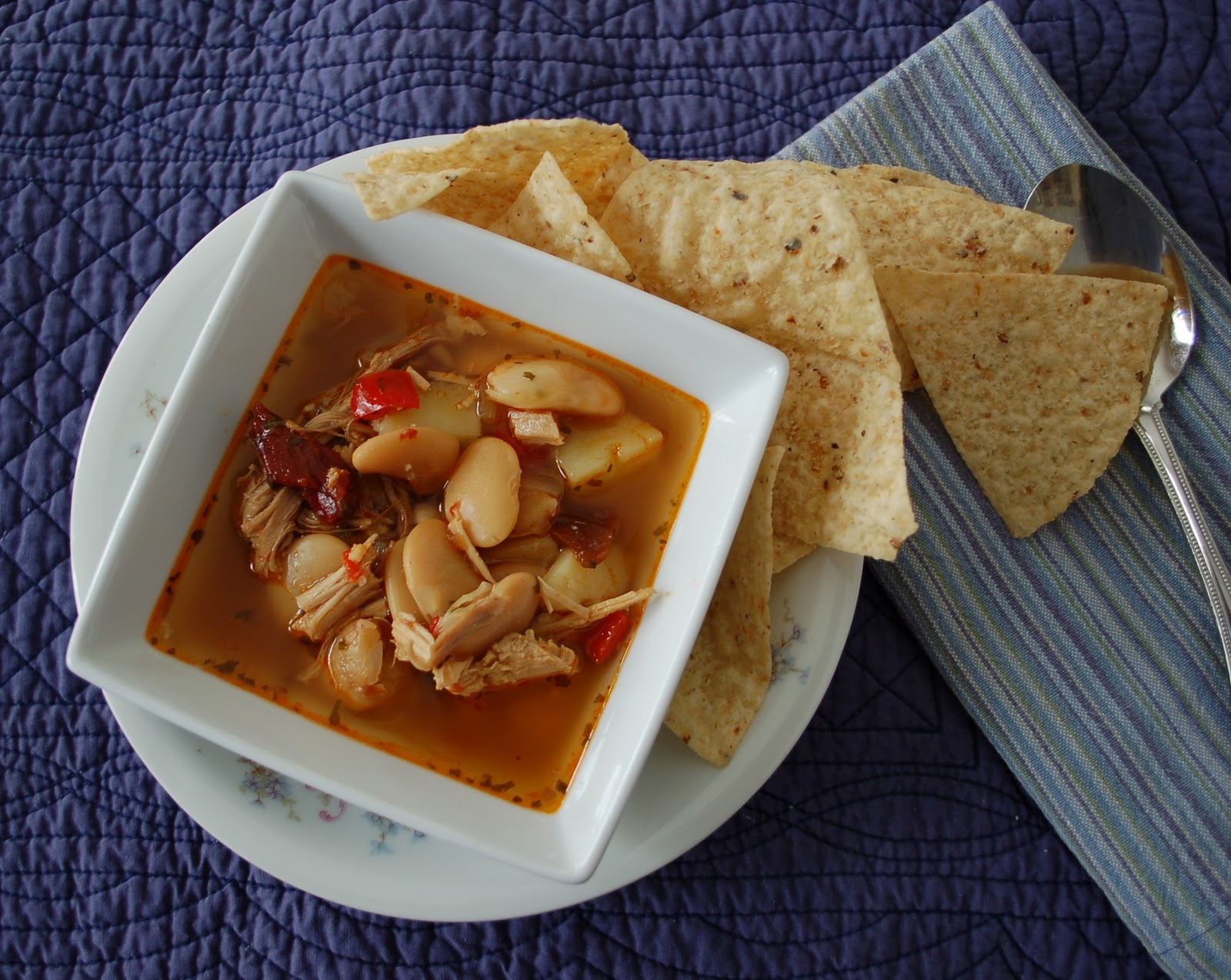 the spice garden chipotle chicken and butter bean soup