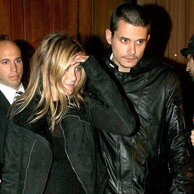Jennifer Aniston was spotted out in Tribeca rocking a leather jacket,