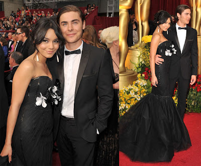 Vanessa Hudgens And Miley Cyrus. Miley Cyrus Oscars 2009 dress