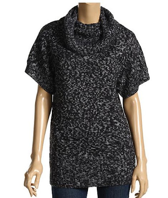 DKNY cowlneck tunic marled sweater | ShoppingandInfo.com