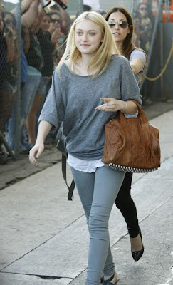 J Brand 901 Stonehenge Dakota Fanning top and leggings from Jimmy Kimmel Twilight Eclipse ...