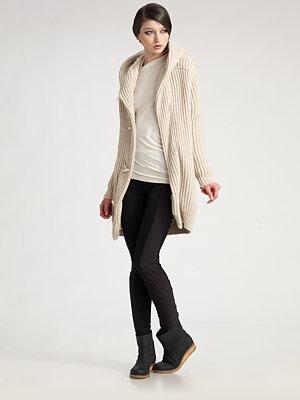 Hooded Coat Fashion Model