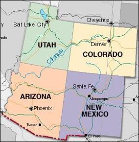 Anasazi Location Map
