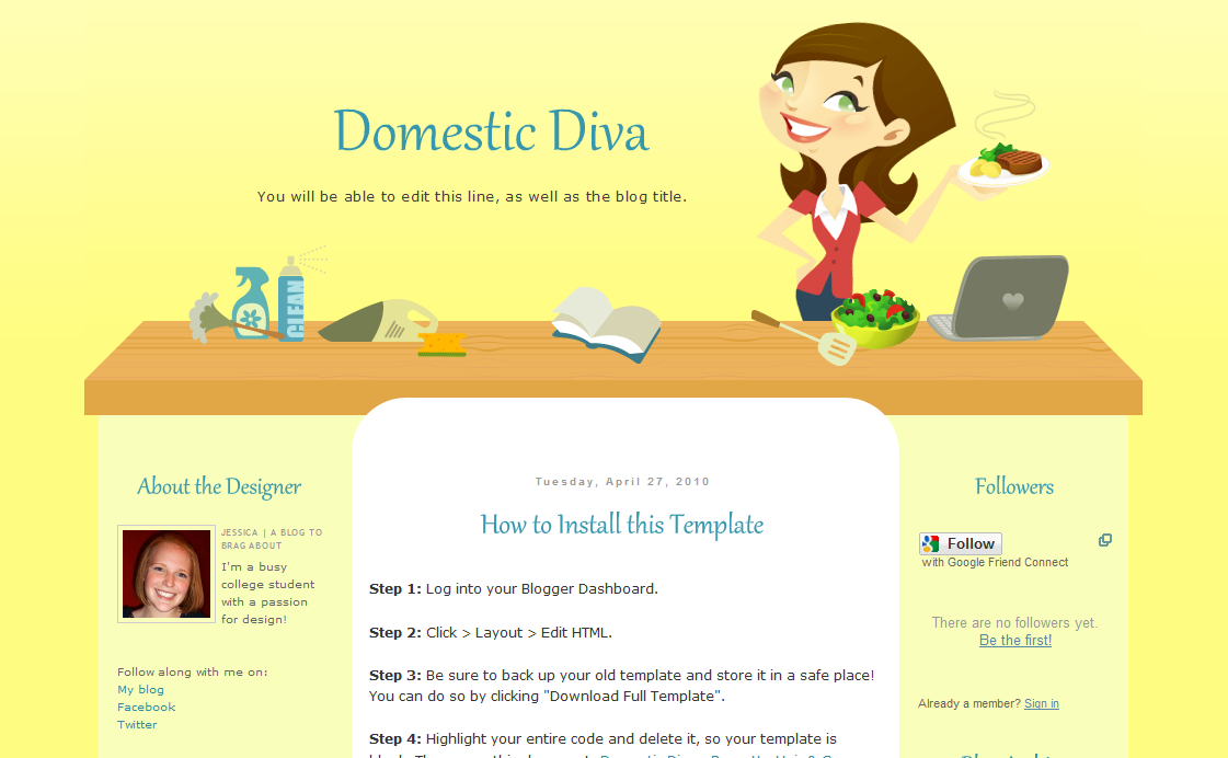 Mommy connection cute mom blogger templates she also offers custom made blog designs at a extremely reasonable price click here to check out her portfolio pronofoot35fo Images