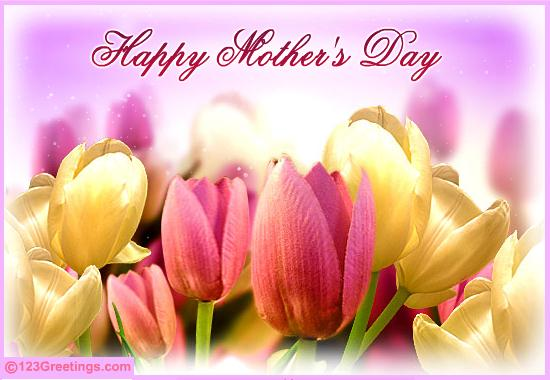 Hope you have a bright and wonderful Mother's Day.