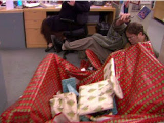 it hasnt been as laugh out loud funny as the previous seasons but this episode completely changed that i laughed non stop and loved every minute of it - The Office Dwight Christmas