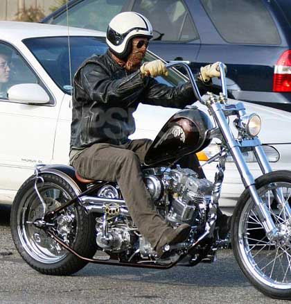 brad pitt on motorcycle