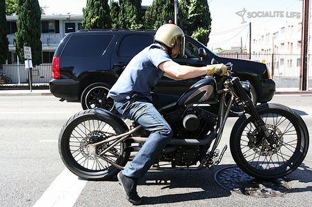 brad pitt on motorcycle