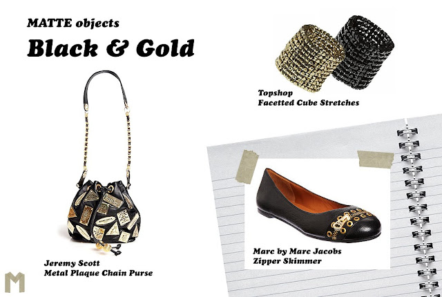 MATTE objects: Black & Gold