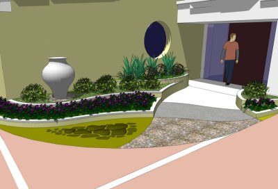 Landscape Design: Entrance Area Garden Design