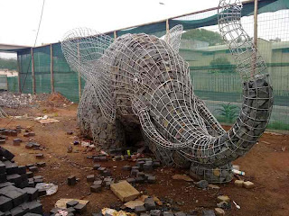 1 Of The 3 Elephant Sculpture Due To Be Torn Down For Political Reasons
