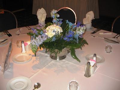 Blue Centerpiecedelphinium hydrangea and iris