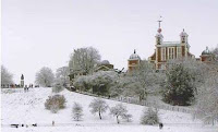 Royal Observatory Greenwich in the snow © NMM