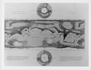 Nathaniel Green's Map of Mars, first published in 'Memoirs of the Royal Astronomical Society, 1877-1879.