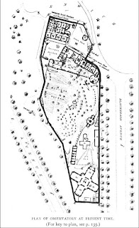 Plan of the Observatory in the Present Day, in E. Walter Maunder, 'The Royal Observatory, Greenwich: a Glance at its History and Work' (1900), based on ADmiralty lithographic plan.