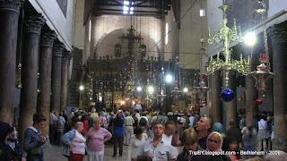 колонны храма Рождества Христова в Вифлееме