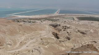 Мертвое море, южная часть, полосы, TripBY.blogspot.com