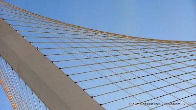 Мост (золотая) арфа в Иерусалиме, (c) http://TripBY.blogspot.com