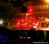 Авто на перекрестке. Красные фонари. Ночь. By TripBY